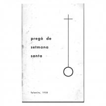 Portada pregó Setmana Santa 1958. Felanitx.
