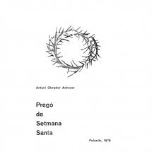 Pregó Setmana Santa 1978 Felanitx