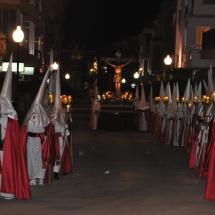 La Confraria a la sortida de la Processó del Divendres Sant. Processó Setmana Santa de Felanitx de 2009