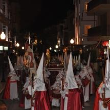 Sortida de la Processó i Pas del Crist Jacent. Processó Setmana Santa de Felanitx de 2009