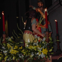 Detall del pas del Crist coronat d'espines. Confraria Sant Crist de la Bona Mort