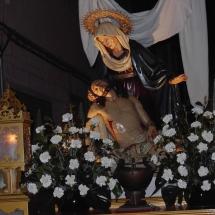 Detall del pas de la Pietat. Confraria de la Pietat