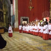 Els Vermells de la Seu el dia del Pregó de Jaume Canet. Pregó Setmana Santa 2009
