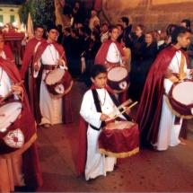 Conjunt de tamborers. Processó Setmana Santa de Felanitx de 2006