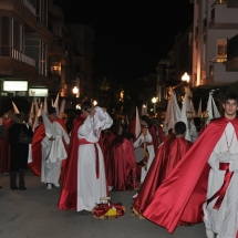 Confrares preparant-se abans de la Processó. Processó Setmana Santa de Felanitx de 2009