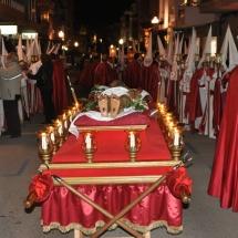 Pas del Crist Jacent abans de partir la Processó. Processó Setmana Santa de Felanitx de 2009