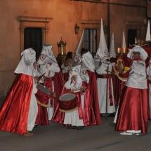 Tamborers de la Confraria abans de la Processó. Processó Setmana Santa de Felanitx de 2009