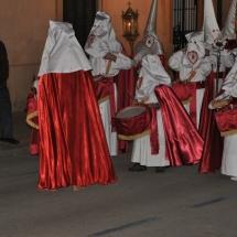 Tamborers preparant-se abans de partir la Processó. Processó Setmana Santa de Felanitx de 2009