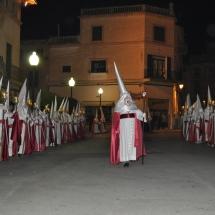 Confrare que dirigeix la Confraria a la Processó. Processó Setmana Santa de Felanitx de 2010