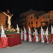 La Confraria amb el Pas del Sant Crist. Processó Setmana Santa de Felanitx de 2010