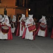 Conjunt de tamborers de la Confraria. Processó Setmana Santa de Felanitx de 2010