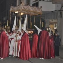 Pas del Crist Jacent abans de partir la Processó. Processó Setmana Santa de Felanitx de 2010