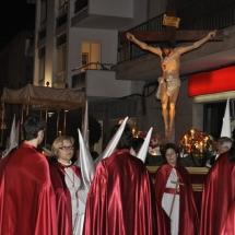 Pas del Sant Crist abans de partir la Processó. Processó Setmana Santa de Felanitx de 2010