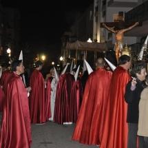 Confrares preparant-se abans de la Processó. Processó Setmana Santa de Felanitx de 2010