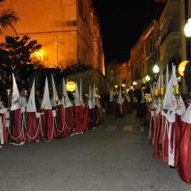La Confraria a l'inici de la Processó. Processó Setmana Santa de Felanitx de 2010