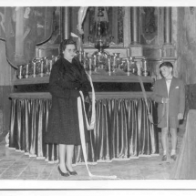 Benedicció del pas del Crist. 20 de març de 1959. Imatges retrospectives