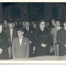 Benedicció del pas del Crist. 20 de març de 1959. 50è Aniversari de la Fundació de la Confraria