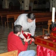 Preparació Setmana Santa. Preparatius del pas de Santa Maria Magdalena. 2010