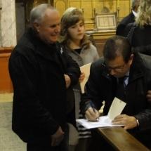 Signatura de pregons per Llorenç Huguet i Rotger. Pregó Setmana Santa 2010