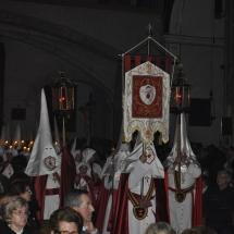 La processó de l'Enterrament entra al Convent de Sant Agustí. Enterrament 2011