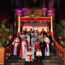 Col·laboradors a l'acte de l'Enterrament. Enterrament 2011