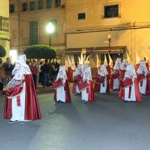Tamborers a la sortida de la Processó. Processó Setmana Santa de Felanitx de 2014
