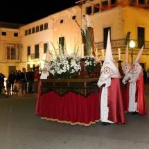 Pas de Santa Maria Magdalena a la sortida de la Processó. Processó Setmana Santa de Felanitx de 2014