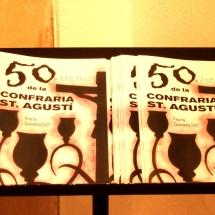 Programes dels actes del 50è aniverssari de la Confraria a l'exposició a la Casa de Cultura de Felanitx. 50è Aniversari de la Fundació de la Confraria