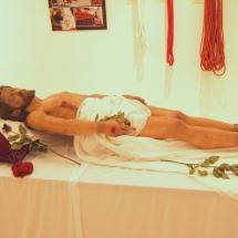 Crist Jacent a l'exposició a la Casa de Cultura de Felanitx. 50è Aniversari de la Fundació de la Confraria
