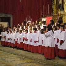 Actuació dels Vermells de la Seu el dia del pregó de Jaume Canet. Pregó Setmana Santa 2009